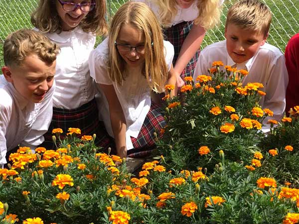 Seton-School-Students-Flowers
